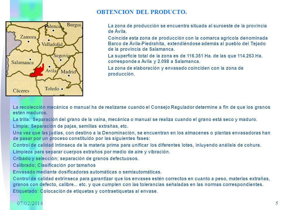 OBTENCION DEL PRODUCTO.