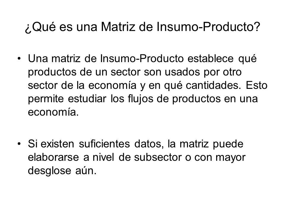 ¿Qué es una Matriz de Insumo-Producto