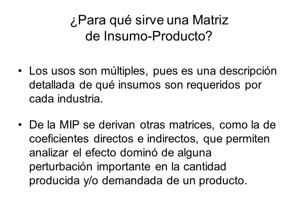 ¿Para qué sirve una Matriz de Insumo-Producto