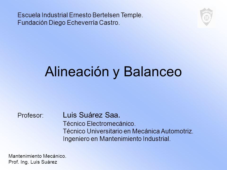 Alineación y Balanceo Escuela Industrial Ernesto Bertelsen Temple.