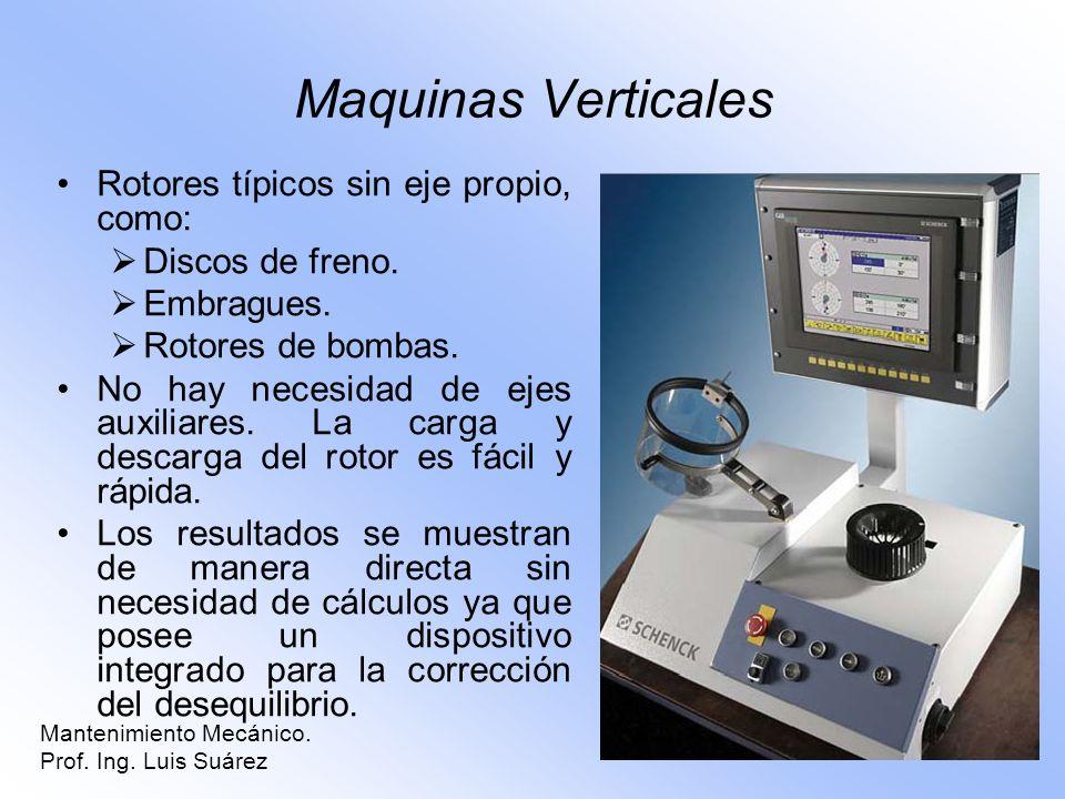 Maquinas Verticales Rotores típicos sin eje propio, como: