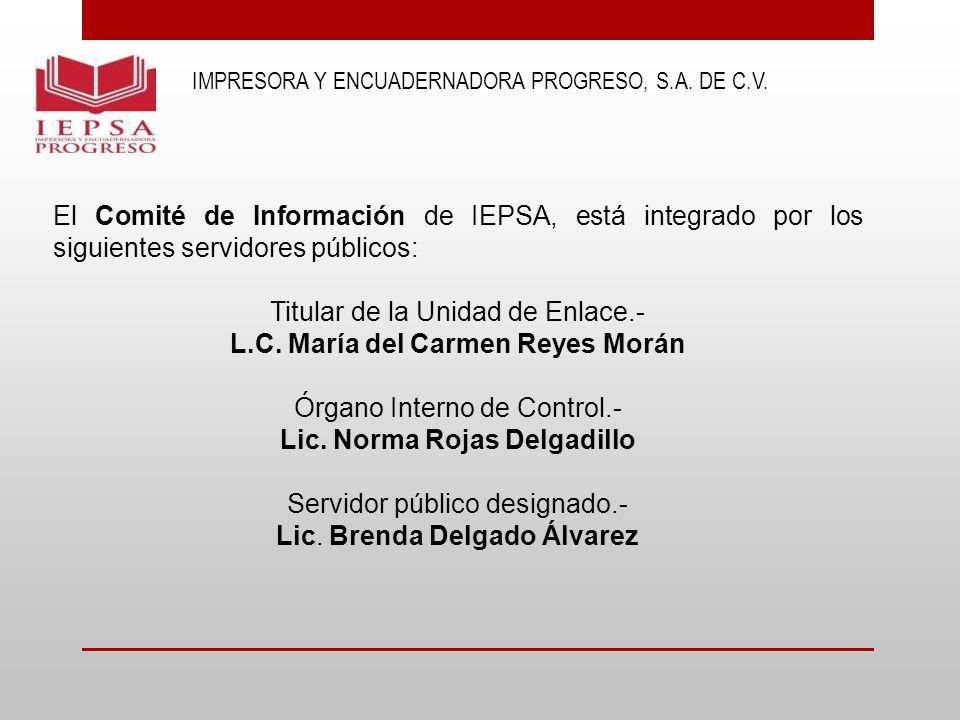 L.C. María del Carmen Reyes Morán Lic. Norma Rojas Delgadillo