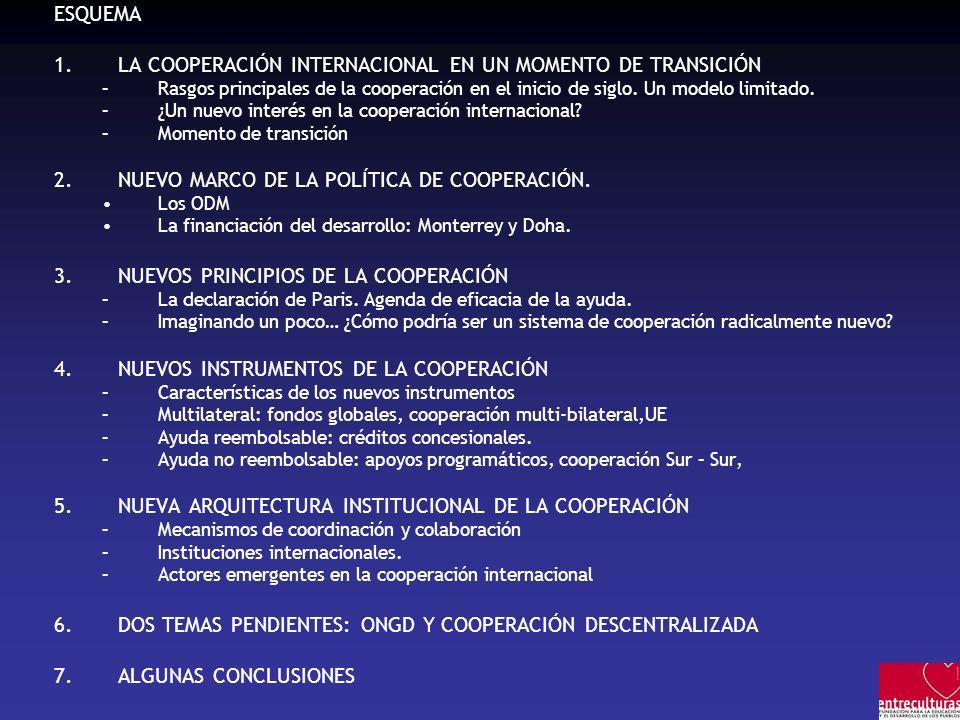 LA COOPERACIÓN INTERNACIONAL EN UN MOMENTO DE TRANSICIÓN