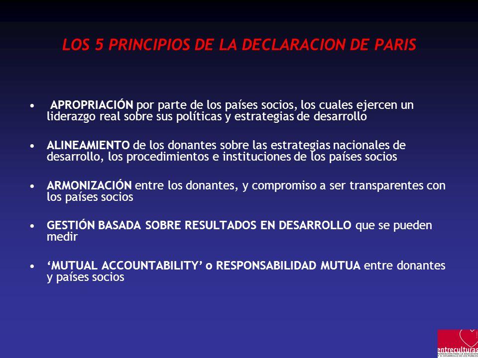 LOS 5 PRINCIPIOS DE LA DECLARACION DE PARIS