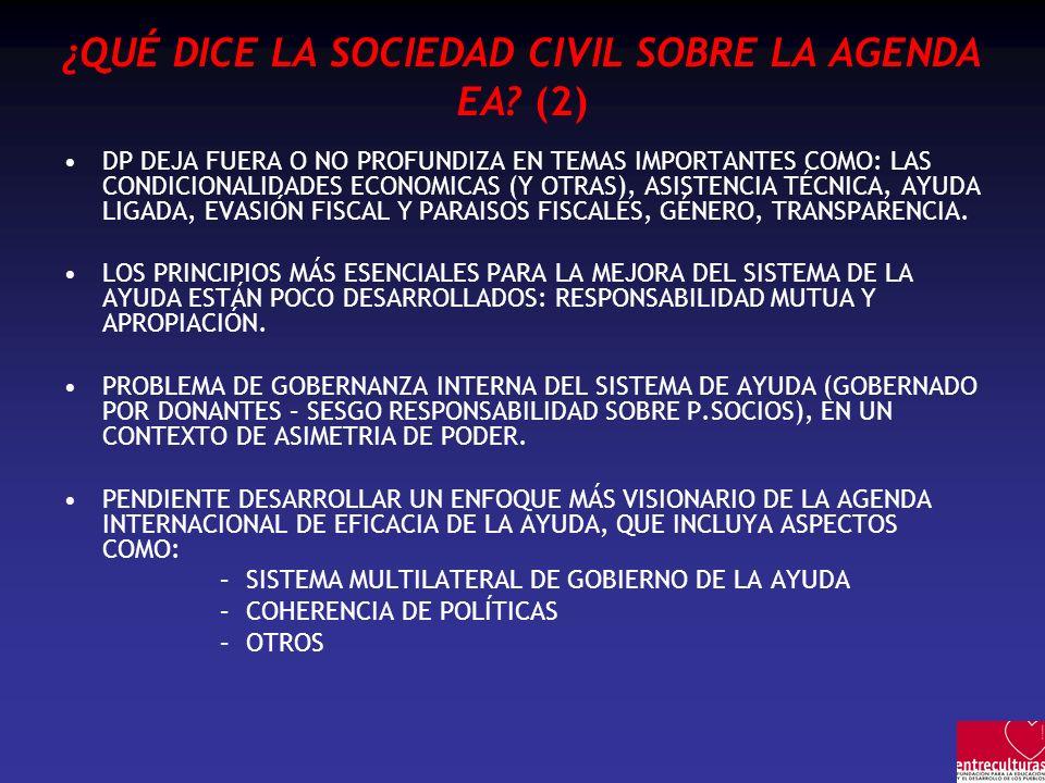 ¿QUÉ DICE LA SOCIEDAD CIVIL SOBRE LA AGENDA EA (2)
