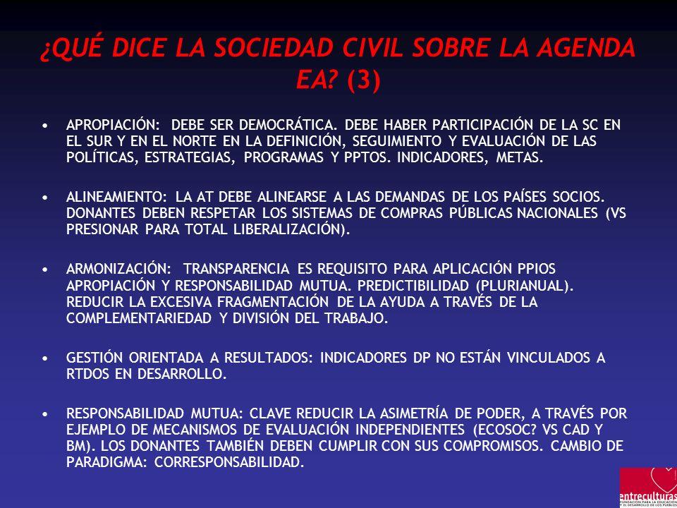 ¿QUÉ DICE LA SOCIEDAD CIVIL SOBRE LA AGENDA EA (3)