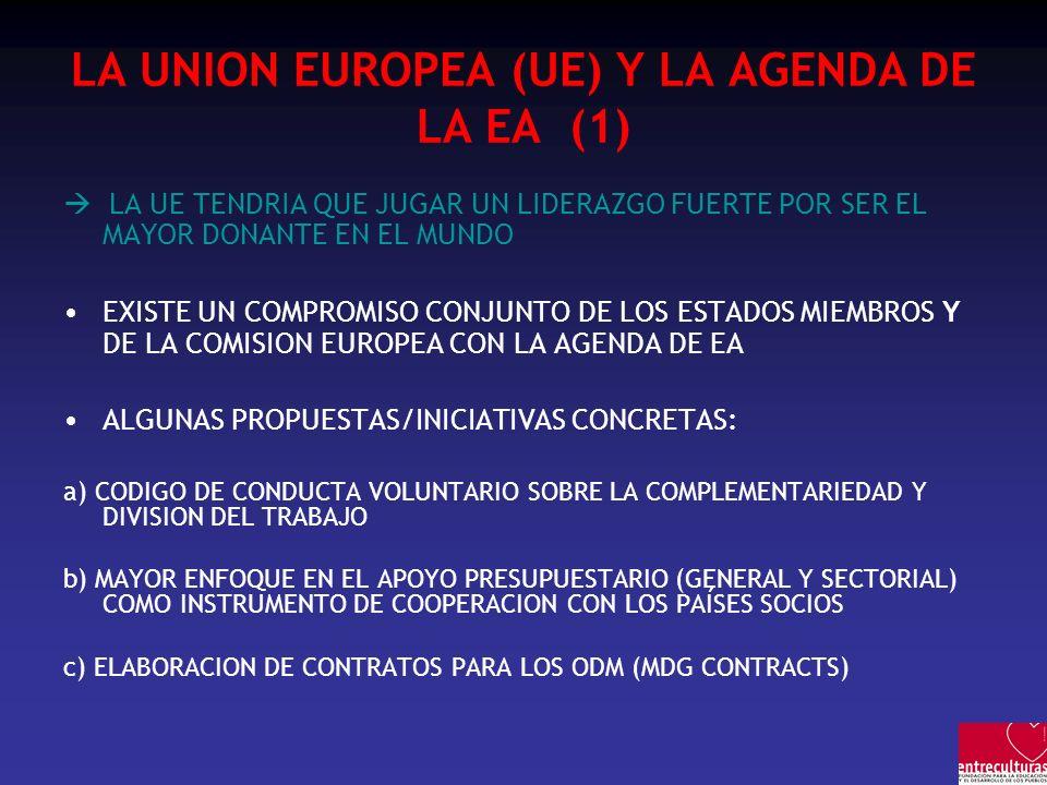 LA UNION EUROPEA (UE) Y LA AGENDA DE LA EA (1)