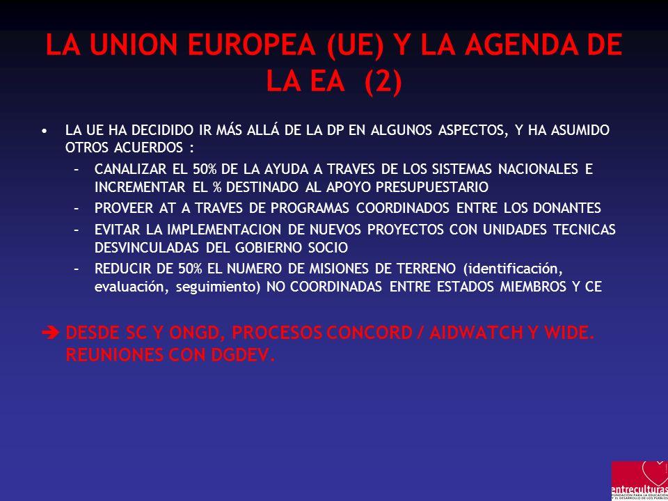 LA UNION EUROPEA (UE) Y LA AGENDA DE LA EA (2)