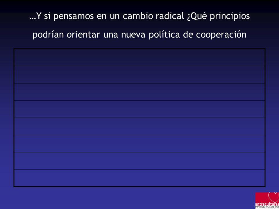 …Y si pensamos en un cambio radical ¿Qué principios podrían orientar una nueva política de cooperación