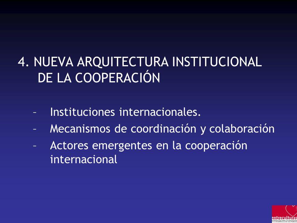 4. NUEVA ARQUITECTURA INSTITUCIONAL DE LA COOPERACIÓN