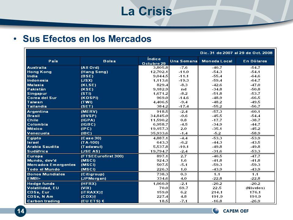 La Crisis Sus Efectos en los Mercados 14