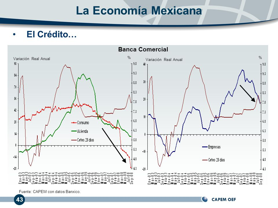 La Economía Mexicana El Crédito… Banca Comercial 43
