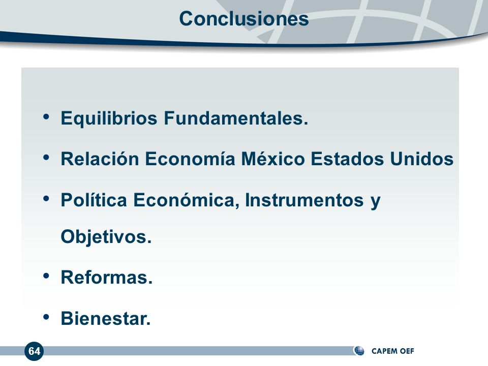 Conclusiones Equilibrios Fundamentales.