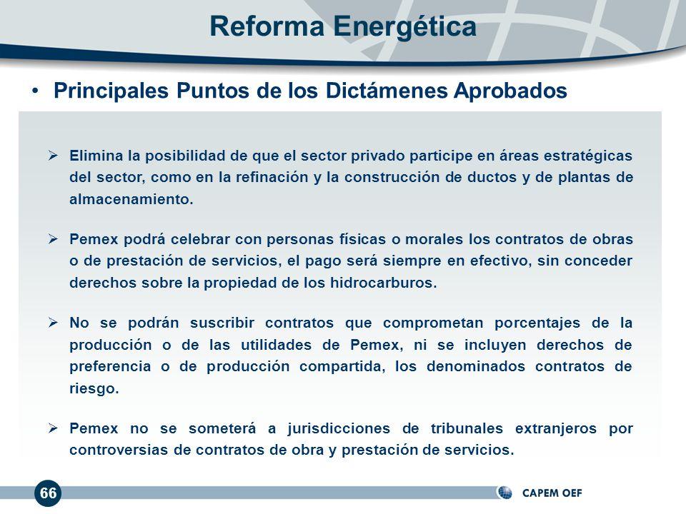 Reforma Energética Principales Puntos de los Dictámenes Aprobados