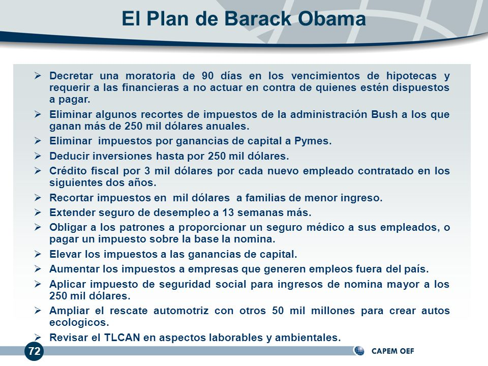 El Plan de Barack Obama