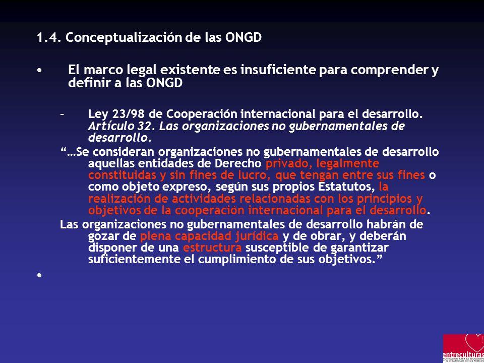 1.4. Conceptualización de las ONGD