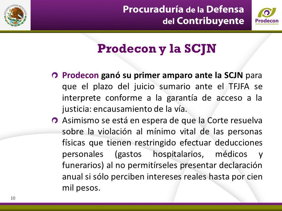 Prodecon y la SCJN