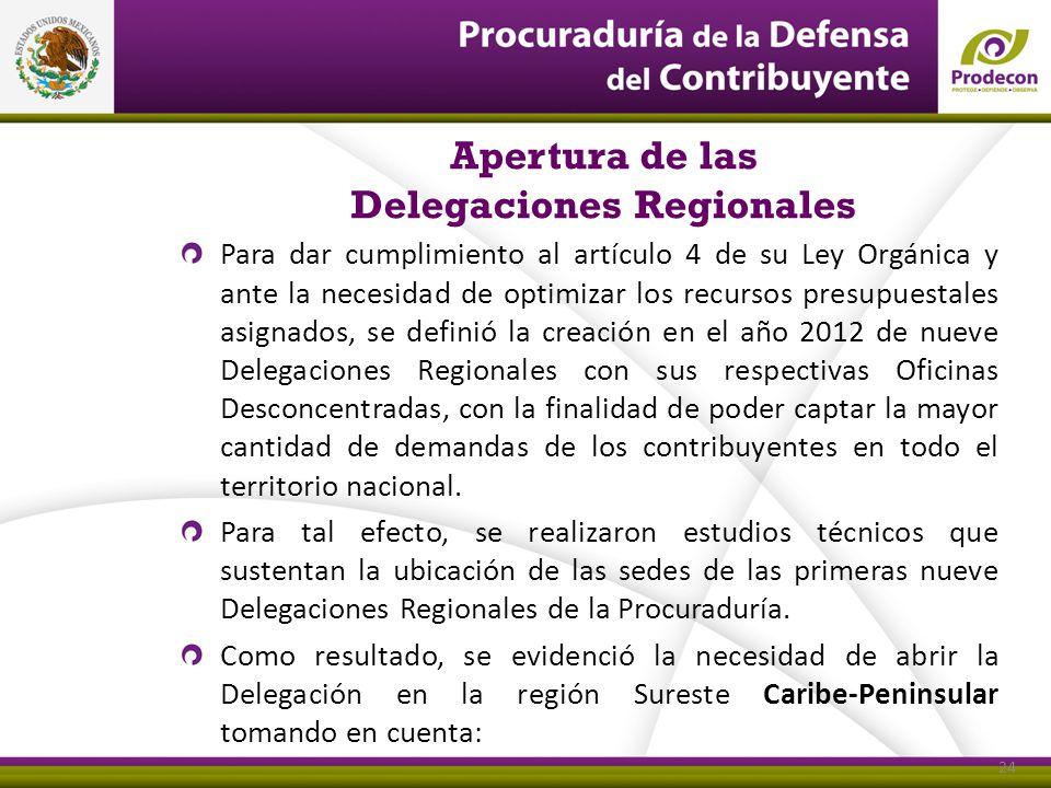 Apertura de las Delegaciones Regionales