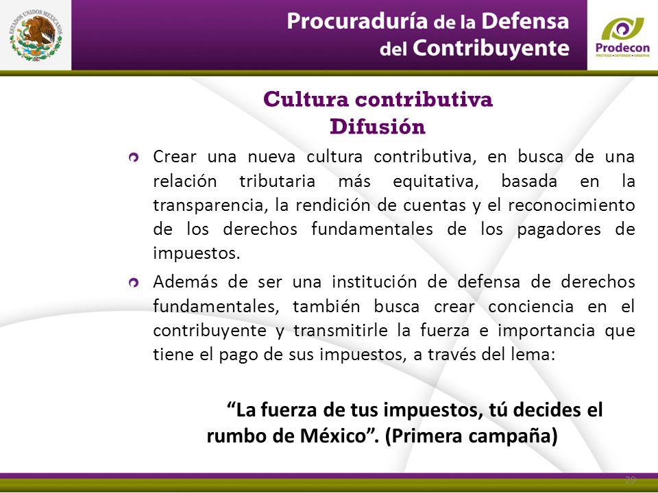 Cultura contributiva Difusión