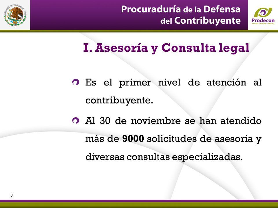 I. Asesoría y Consulta legal