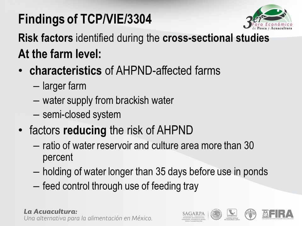 Findings of TCP/VIE/3304 At the farm level: