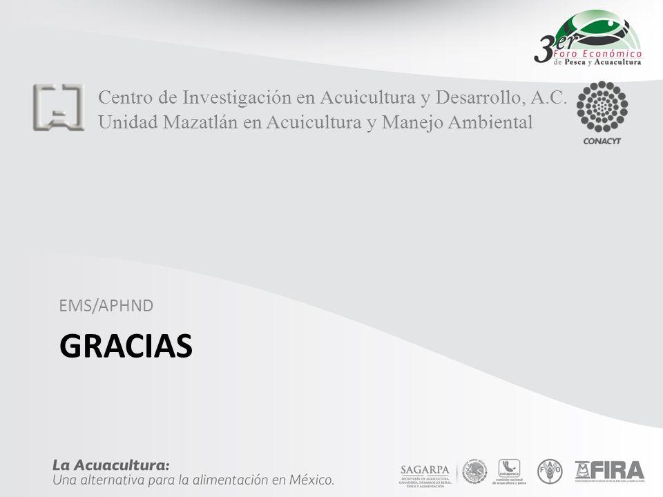 gracias Centro de Investigación en Acuicultura y Desarrollo, A.C.
