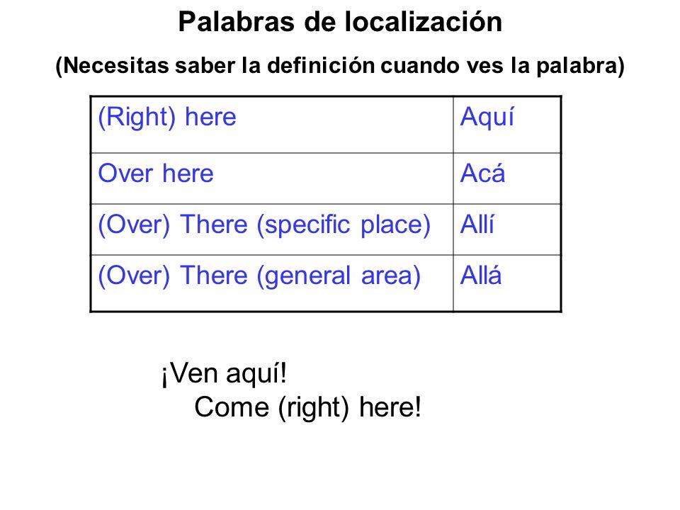 Palabras de localización