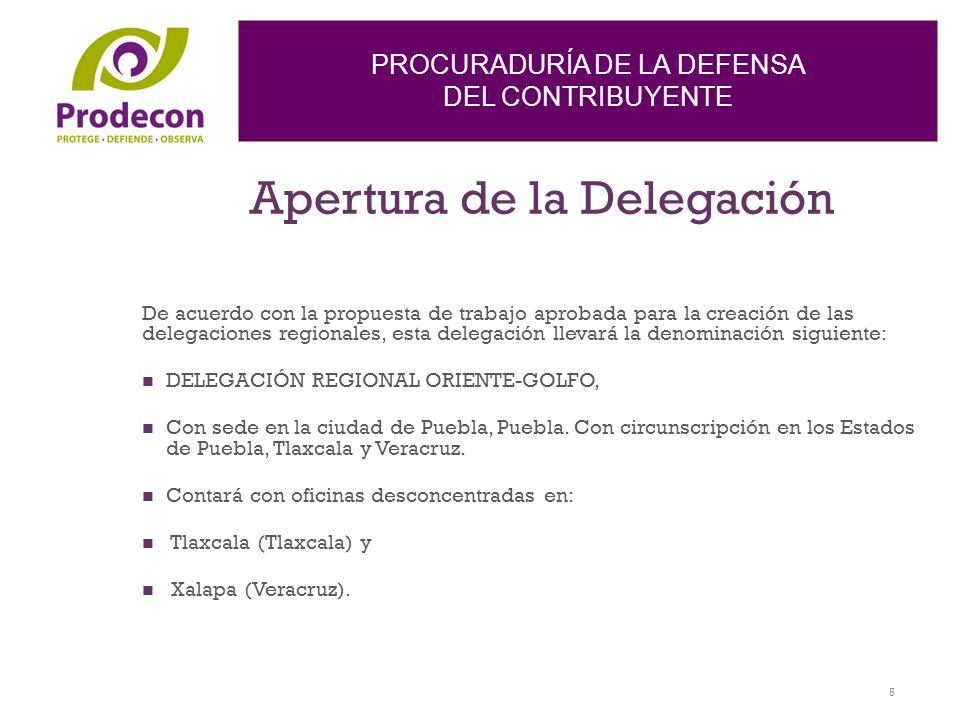 Apertura de la Delegación