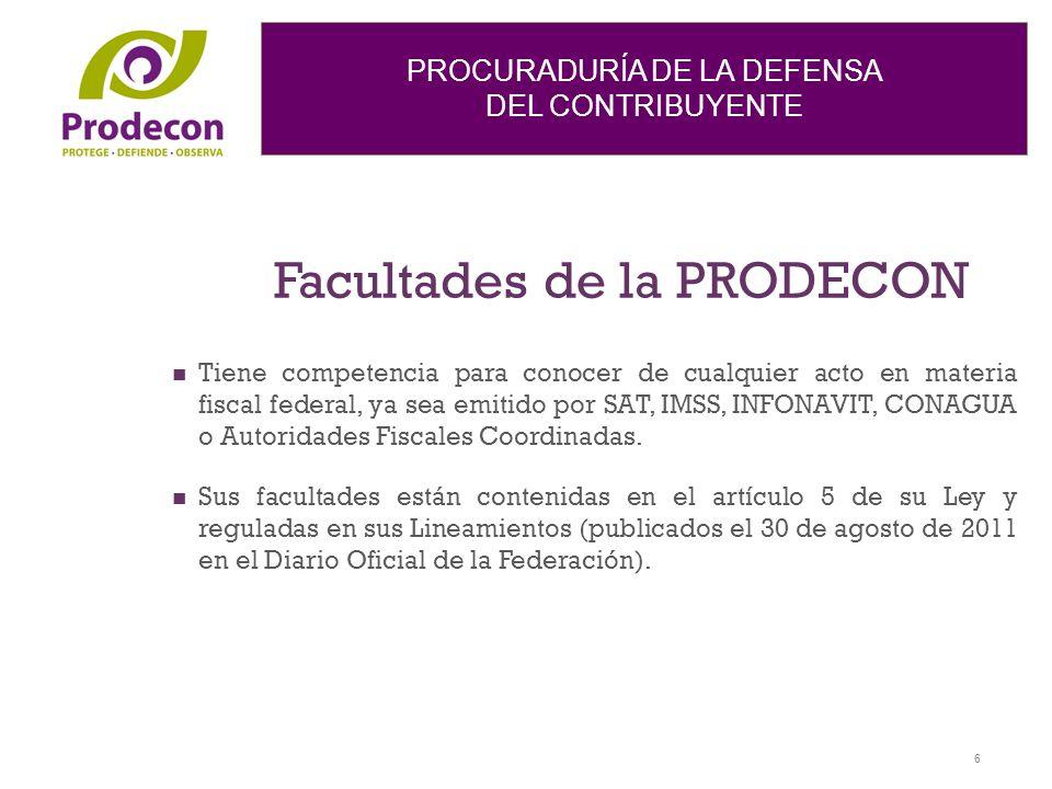 Facultades de la PRODECON