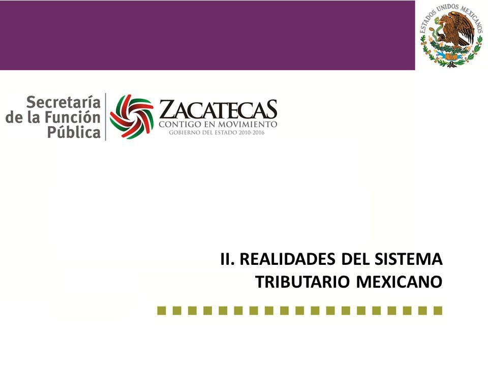 II. realidades del sistema tributario mexicano