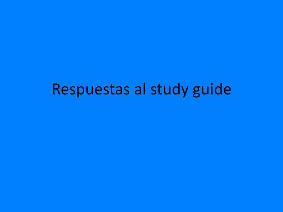 Respuestas al study guide