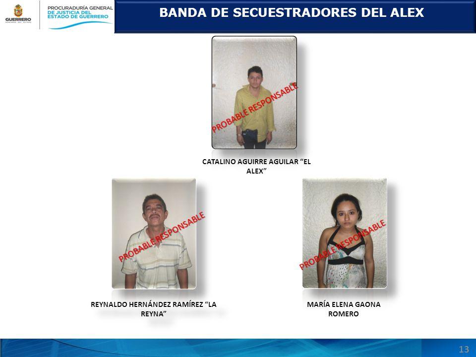 BANDA DE SECUESTRADORES DEL ALEX