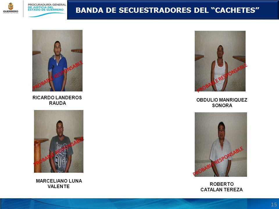 BANDA DE SECUESTRADORES DEL CACHETES