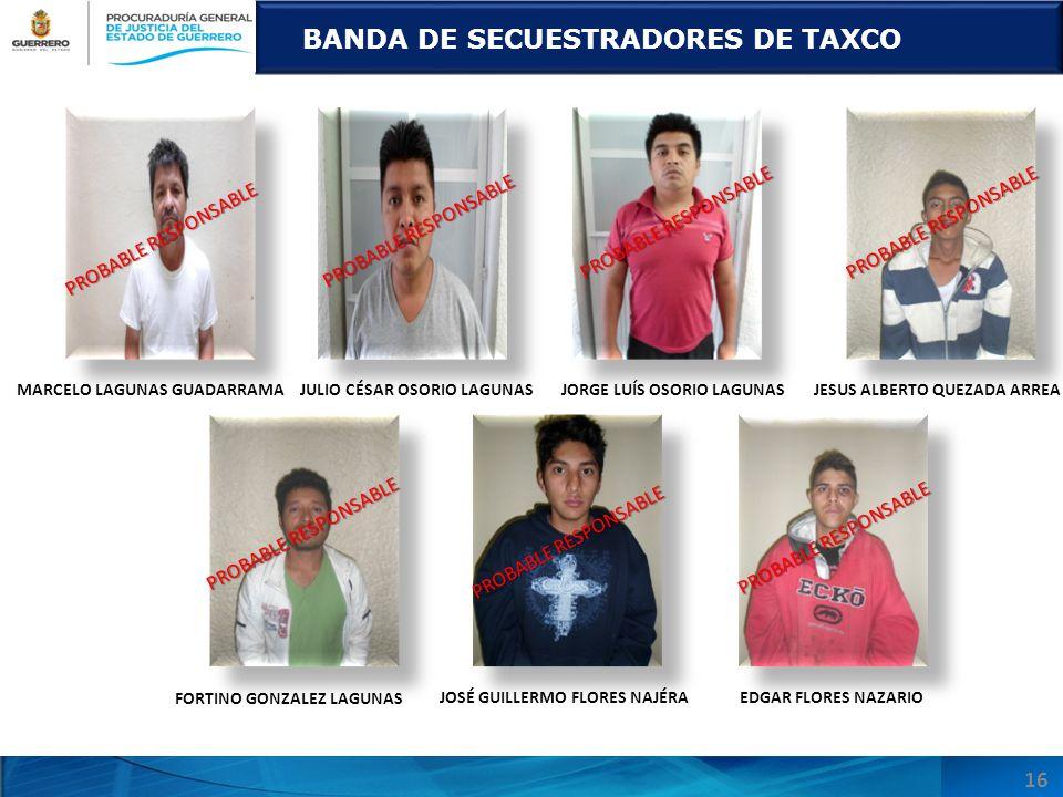 BANDA DE SECUESTRADORES DE TAXCO