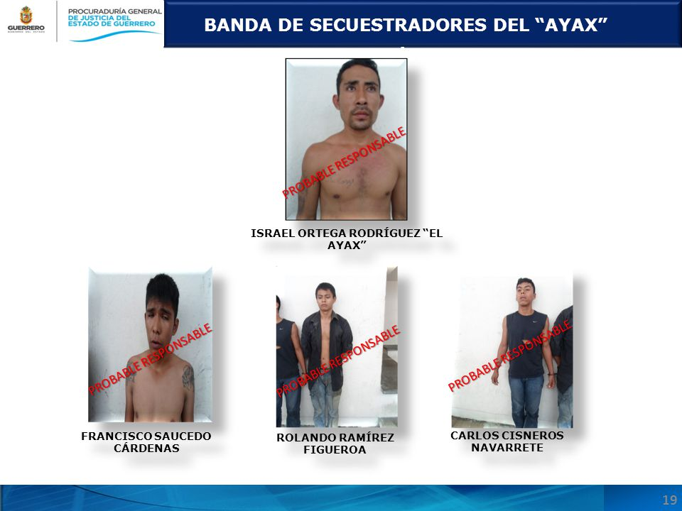 BANDA DE SECUESTRADORES DEL AYAX