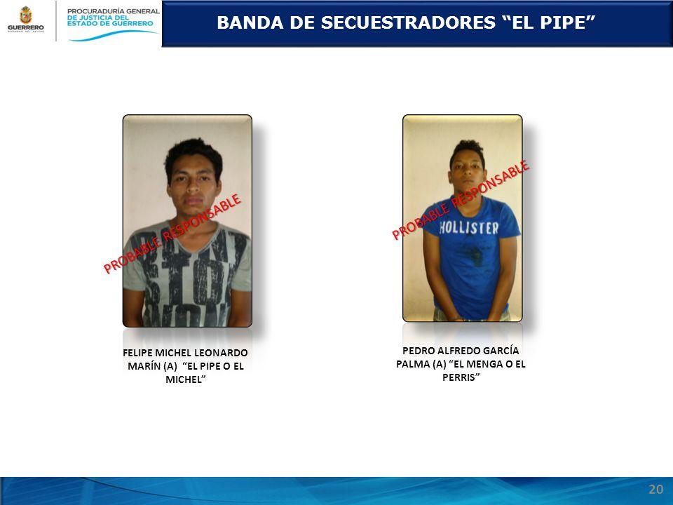 BANDA DE SECUESTRADORES EL PIPE