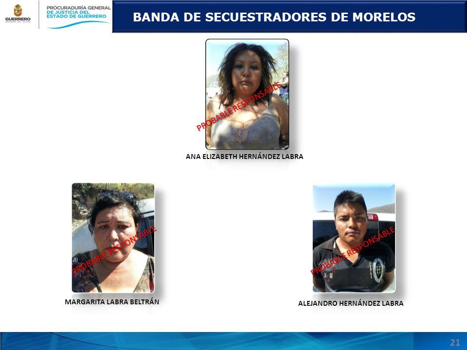 BANDA DE SECUESTRADORES DE MORELOS