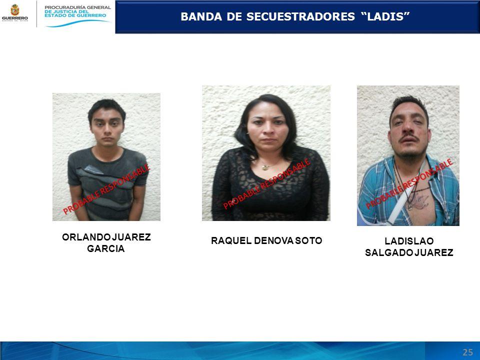 BANDA DE SECUESTRADORES LADIS LADISLAO SALGADO JUAREZ
