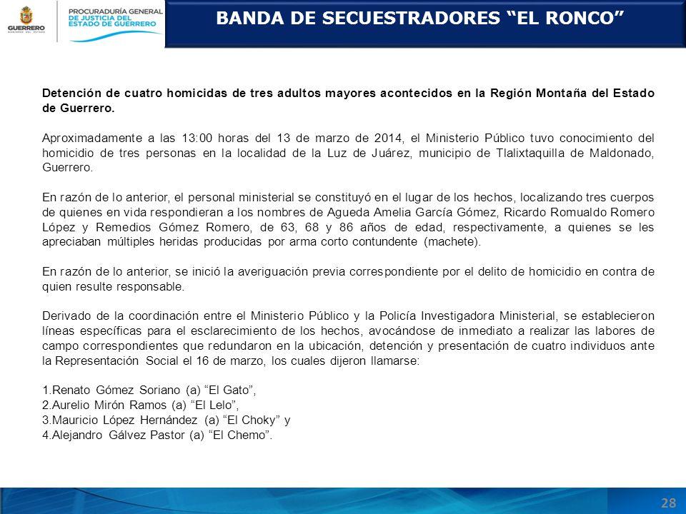 BANDA DE SECUESTRADORES EL RONCO