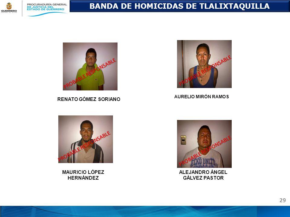 BANDA DE HOMICIDAS DE TLALIXTAQUILLA