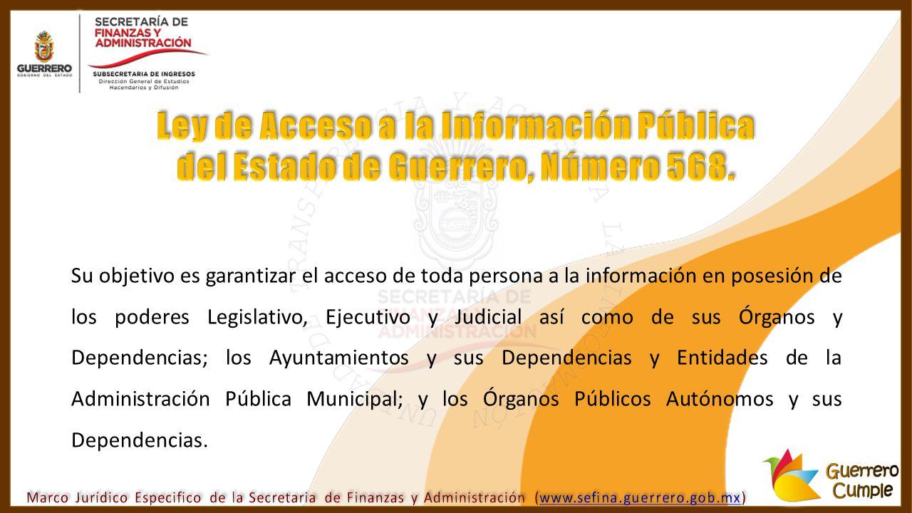 Ley de Acceso a la Información Pública del Estado de Guerrero, Número 568.