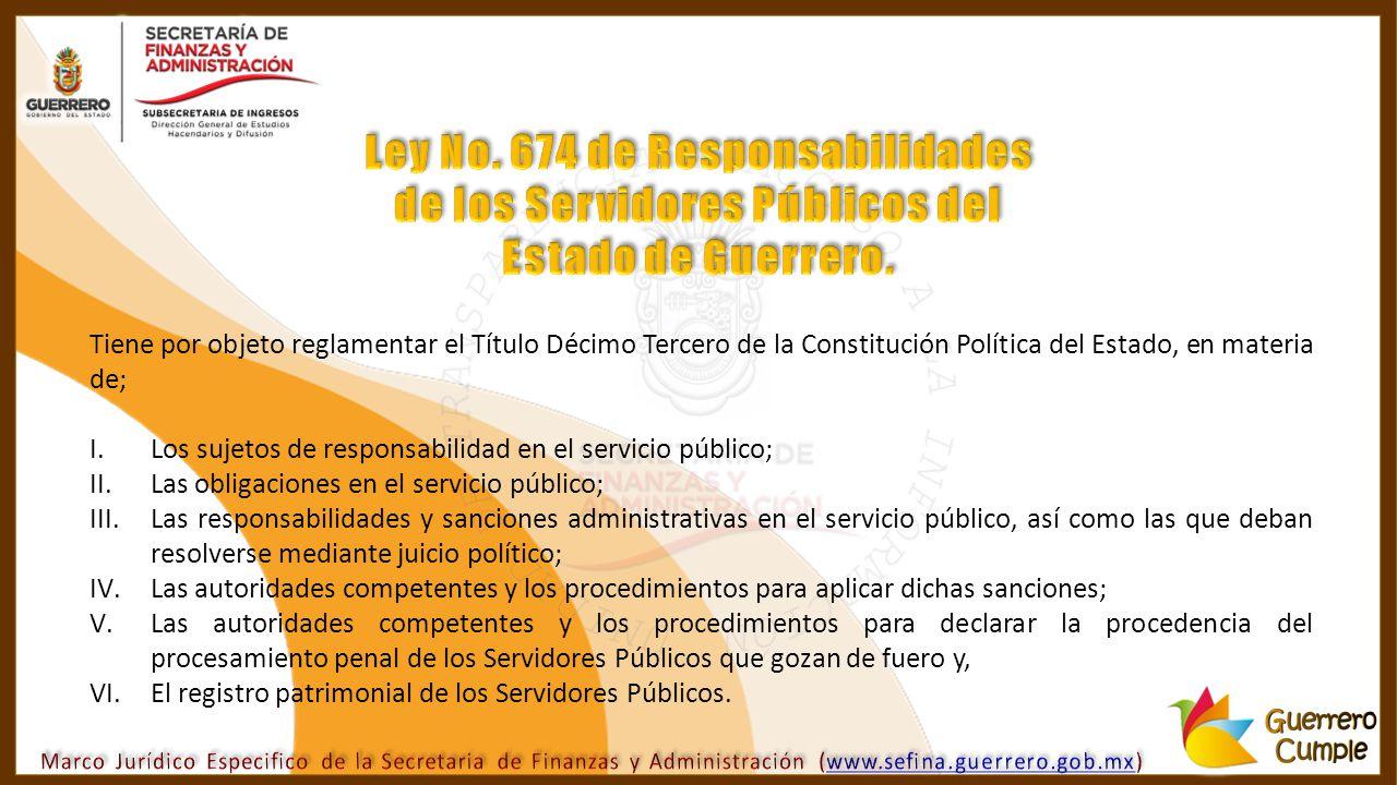 Ley No. 674 de Responsabilidades de los Servidores Públicos del