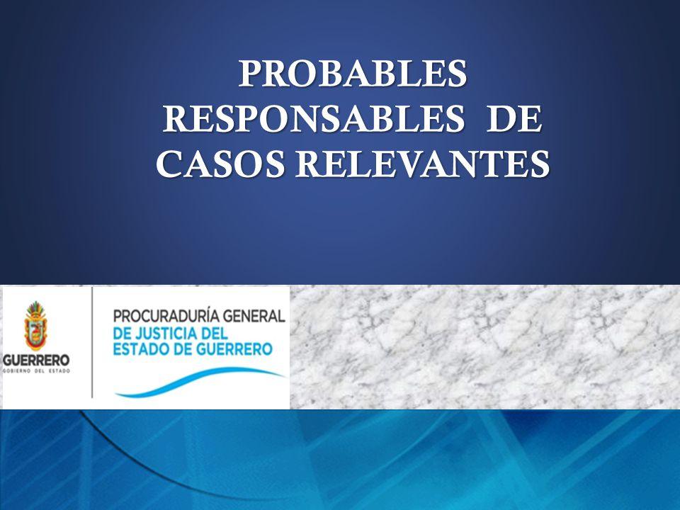PROBABLES RESPONSABLES DE CASOS RELEVANTES