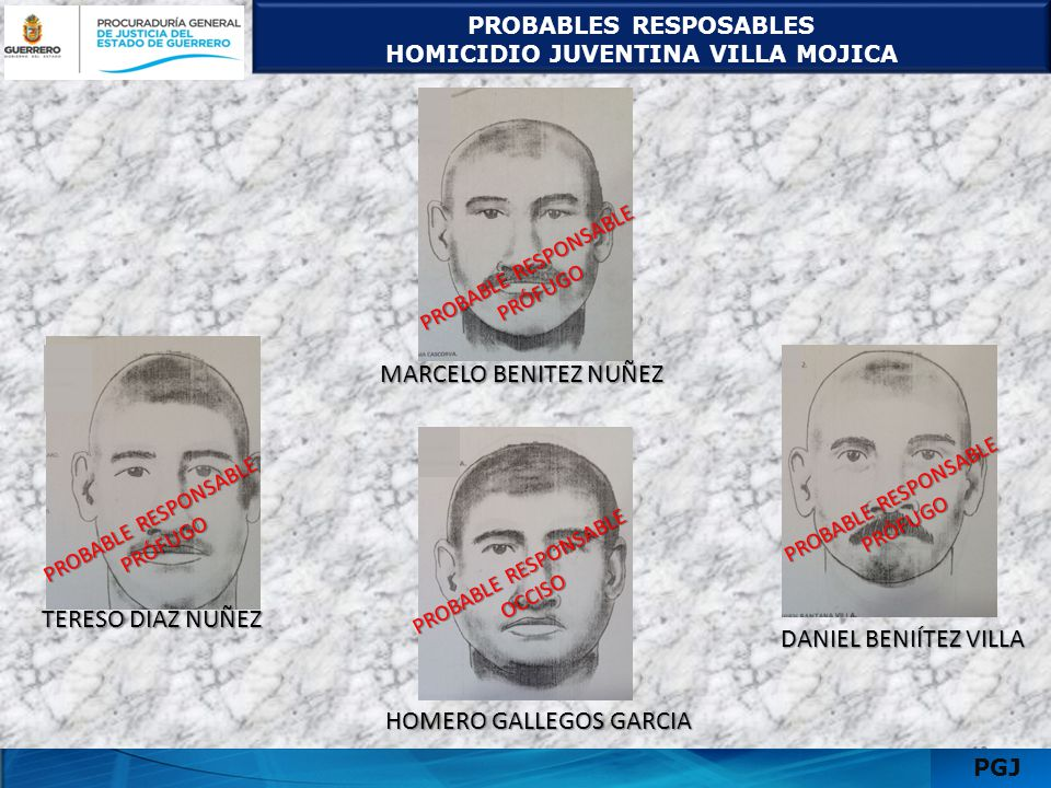 PROBABLES RESPOSABLES HOMICIDIO JUVENTINA VILLA MOJICA