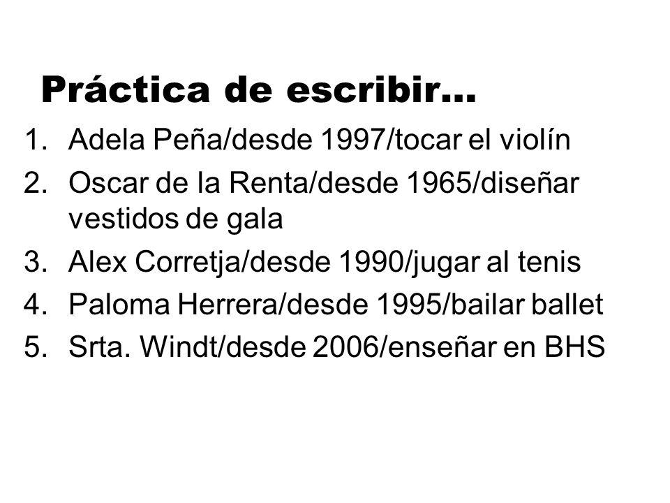 Práctica de escribir… Adela Peña/desde 1997/tocar el violín