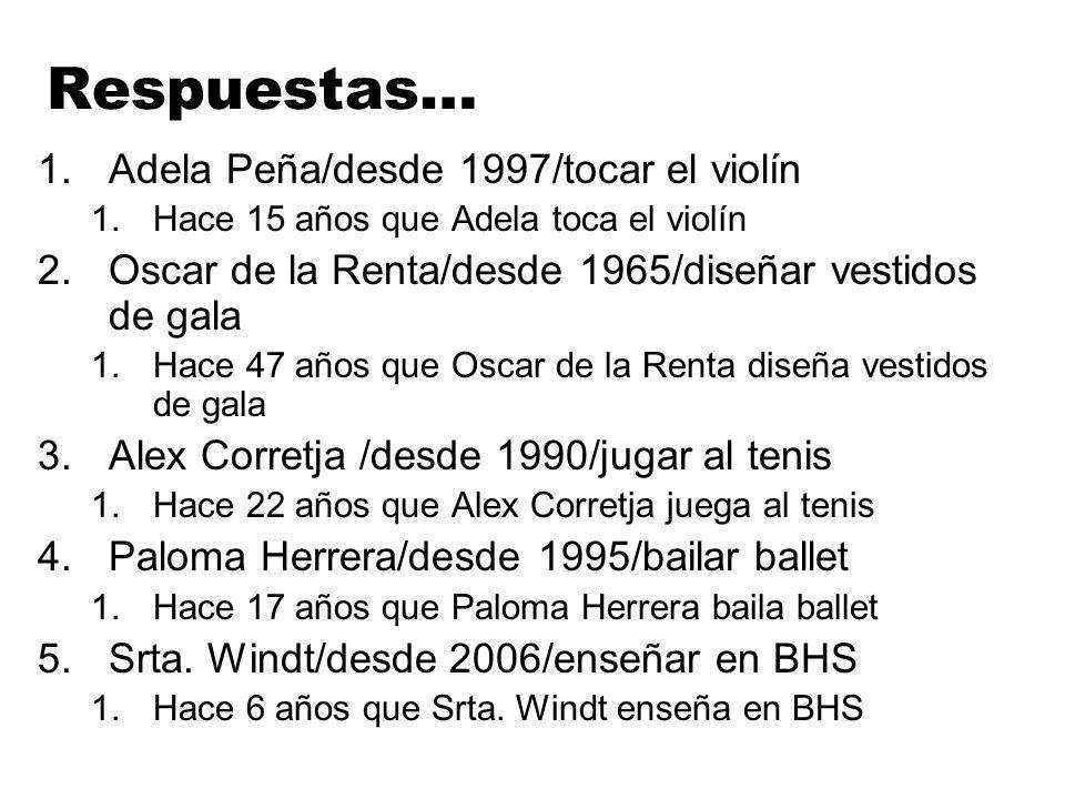 Respuestas… Adela Peña/desde 1997/tocar el violín