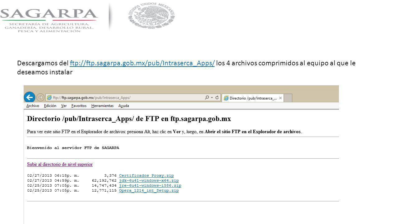 Descargamos del ftp://ftp. sagarpa. gob