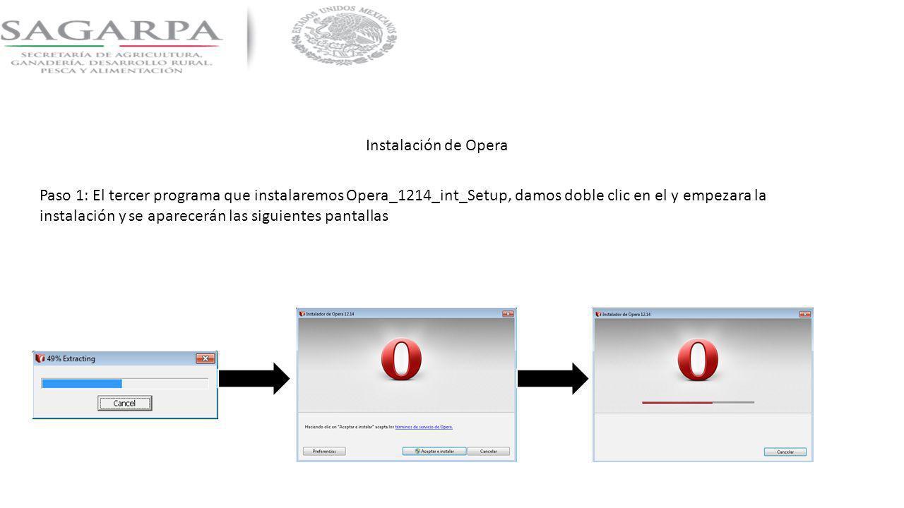 Instalación de Opera