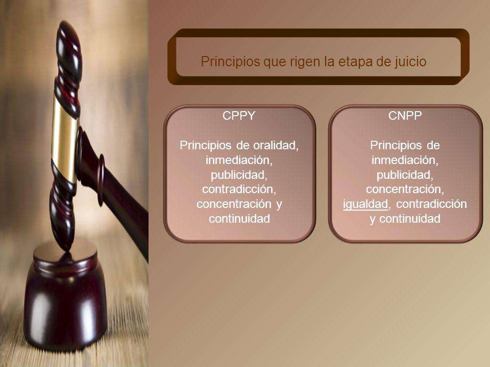 Principios que rigen la etapa de juicio
