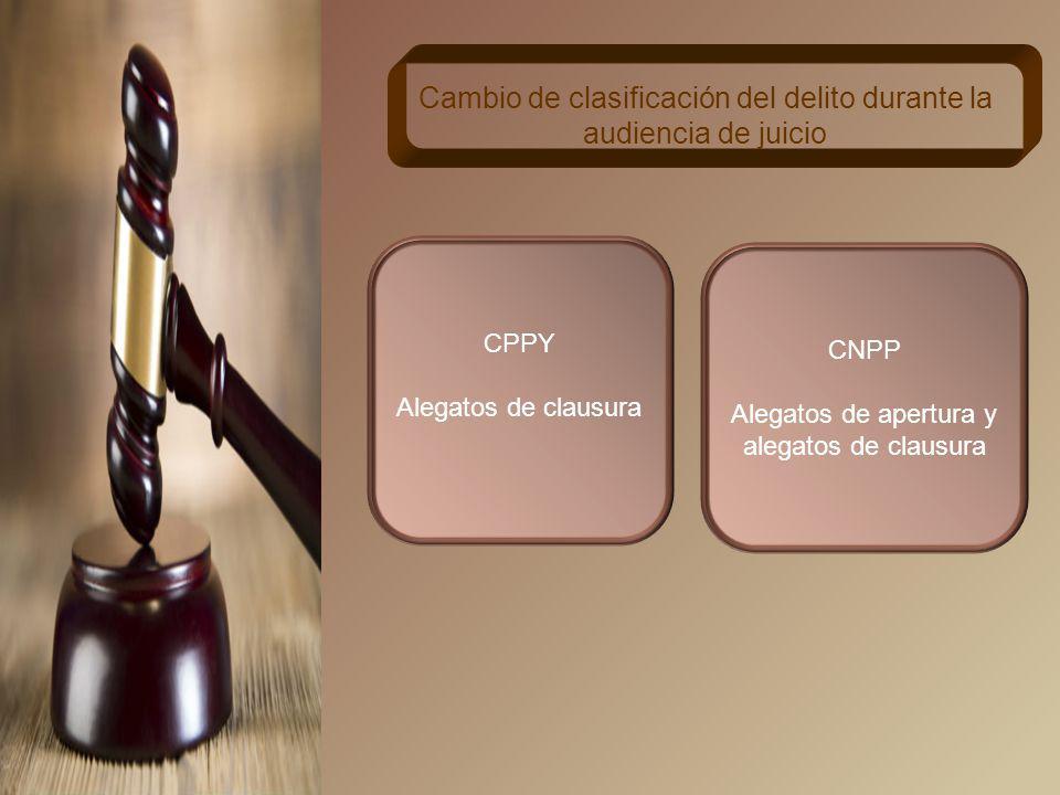 Cambio de clasificación del delito durante la audiencia de juicio